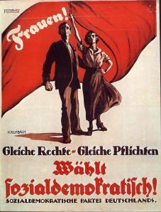 Wahlplakat von 1919. Von wem?  Natürlich der SPD.