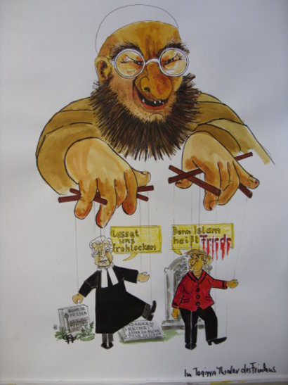 Karikatur: Fridolin Friedenlieb, Bonn