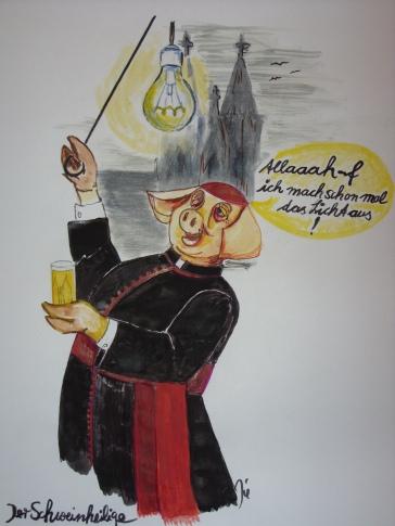 Karikatur: Fridolin Friedenslieb, Bonn