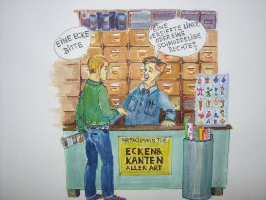 Zeichnung: Fridolin Friedenslieb, Bonn