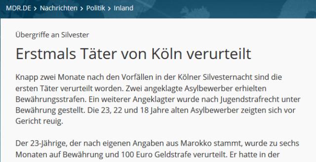 Täter Köln Urteil