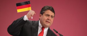 BERLIN, GERMANY - DECEMBER 05:  Sigmar Gabriel, Chairman of the German Social Democrats (SPD), speaks on the second day of the SPD annual federal congress on December 5, 2011 in Berlin, Germany. The SPD is Germany's biggest opposition party and has seen its popularity rise in the last year as the current German government coalition of Christian Democrats and Free Democrats has faced political stumbling blocks.  (Photo by Sean Gallup/Getty Images)